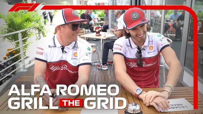 Alfa Romeo's Kimi Raikkonen and Antonio Giovinazzi Grill The Grid 2019