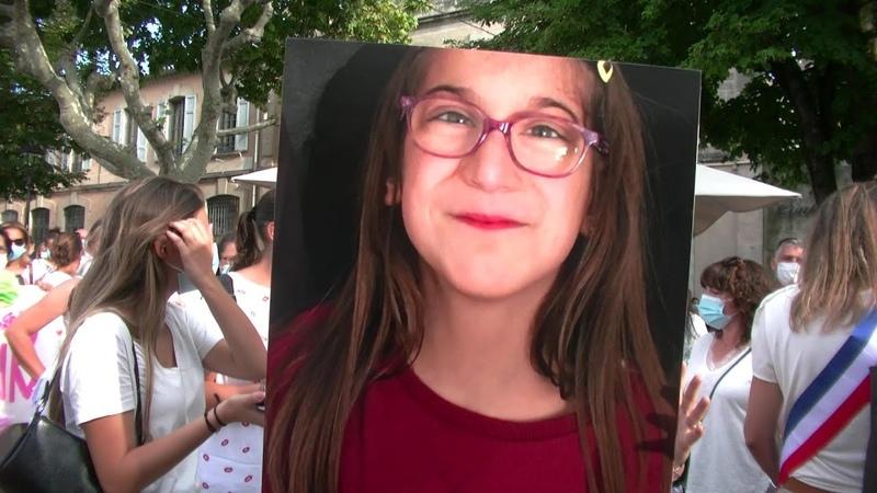Marche blanche en hommage à Sarah retrouvée noyée dans le Rhône
