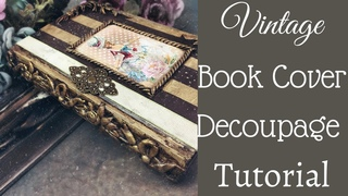DECOUPAGE ON BOOK COVER | DECOUPAGE USING OFFICE PAPER