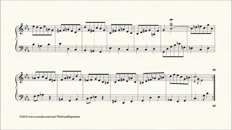 Bach Prelude in C minor BWV 934 Harpsichord