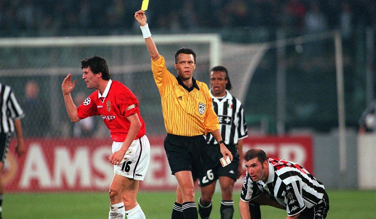 Манчестер Юнайтед - Ювентус. 1/2 Лиги чемпионов 1999. Фол Роя Кина на Зидане