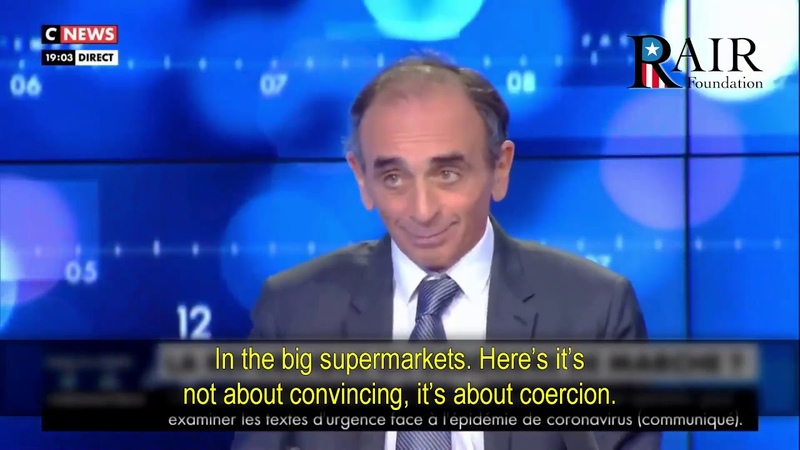 Zemmour on the COVID 19 'Immigrant neighborhoods started to revolt looting in the supermarkets'