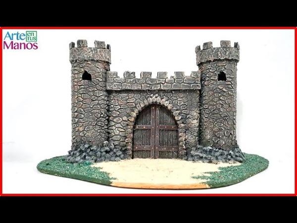 Cómo Hacer un Castillo para Belenes con Material Reciclado