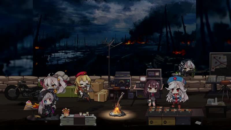Ночной лагерь на фронте