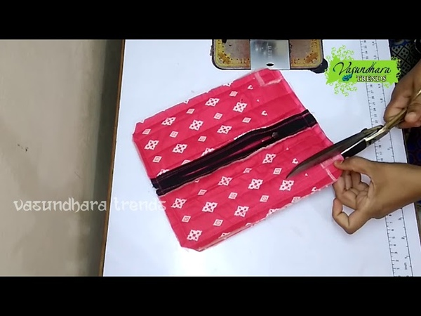 How Make Hand Pouch Purse With Old Cloth The Best Out Of Waste From Recycled Cloth