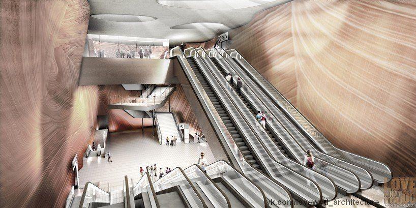 концепция навеса над новой станцией метро во Франции / atelier d' architecture king kong