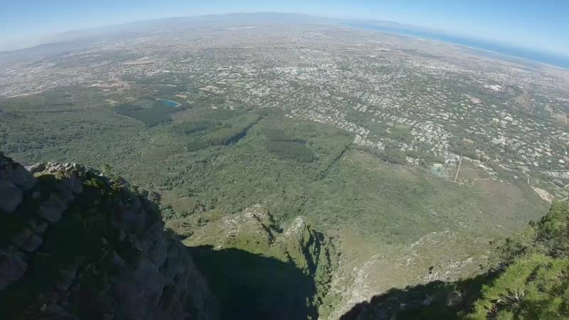 Table mountain my first wingsuit jump in South Africa