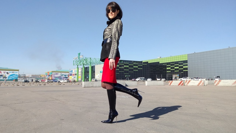 Tatyanas Gianmarco Lorenzi pointed toe chromed steel stilettos black patent leather boots Size 36