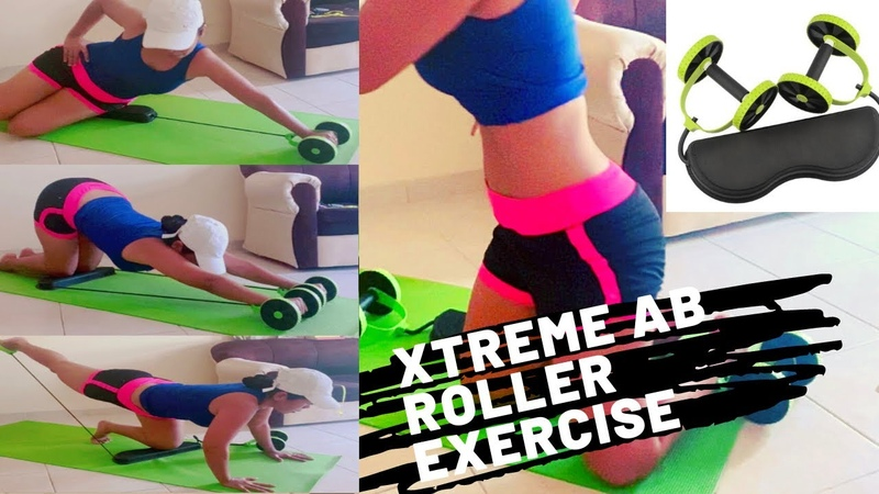 XTREME AB ROLLER EXERCISE MACHINE 3 MINUTES WORKOUT USING REVOFLEX XTREME AB WORKOUT