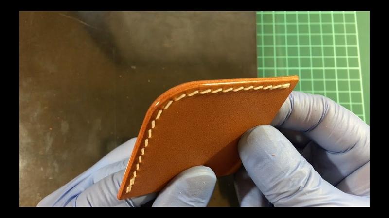 Burnishing Leather Edge Leather Craft Simple Handmade