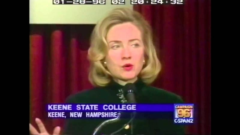 1996 Hillary Clinton on superpredators (C-SPAN)