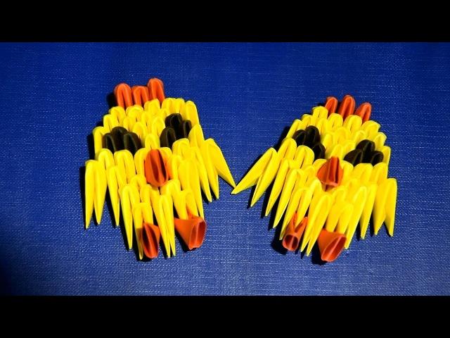 3D origami for beginners easy Chicken (bird) tutorial