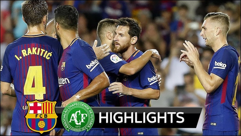 Barcelona vs Chapecoense 5-0 - All Goals Extended Highlights - Gamper Trophy - 07082017 HD