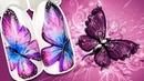 🦋 Акварельная Бабочка с Блёстками 🦋 Нежный Дизайн Ногтей Гель-лаком к Летнему Маникюру Пошаговый МК