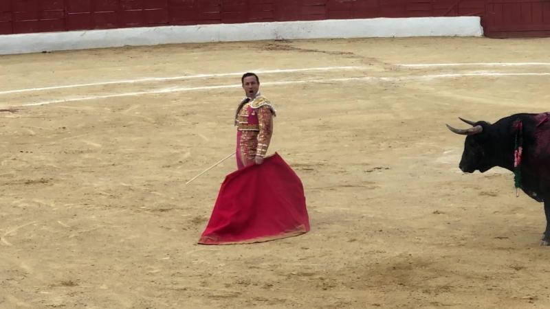 20.05.2018 Santisteban del Puerto. Rafaelillo. Segundo toro. Dos orejas