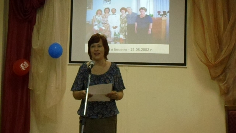 Маргарита Бендрышева читает своё стихотворение