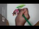 Рисуем яблоко цветными карандашами