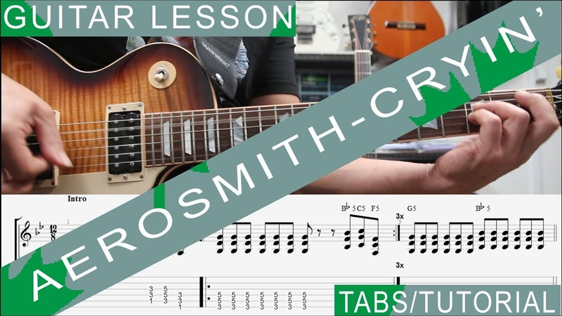 Aerosmith, Cryin COMPLETE Guitar Lesson, Solo, Chords, Riffs, Licks, Harmonica, Guitarra
