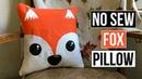 Cute DIY No Sew Fox Throw Pillow