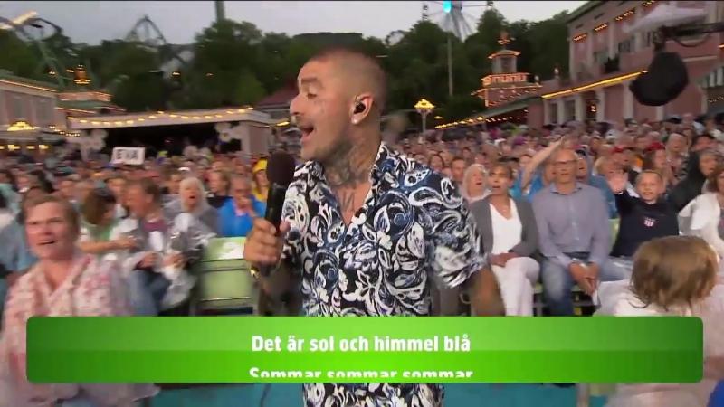 Lotta Engberg, Mendez and the audience-Sommar Sommar Sommar.(Lotta På Liseberg 09.07.2018.)