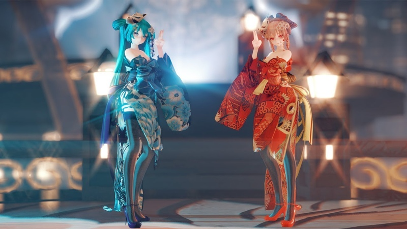 [MMD]RedBlue Ladies!♪宵々古今