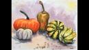 Gourds Beginner Painting Lesson Wet in Wet Technique