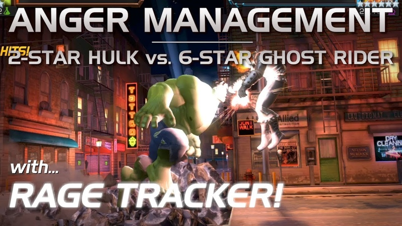 Anger Management: 2-Star Hulk vs. 6-Star Ghost Rider (w/ Rage Tracker) | Marvel Contest of Champions