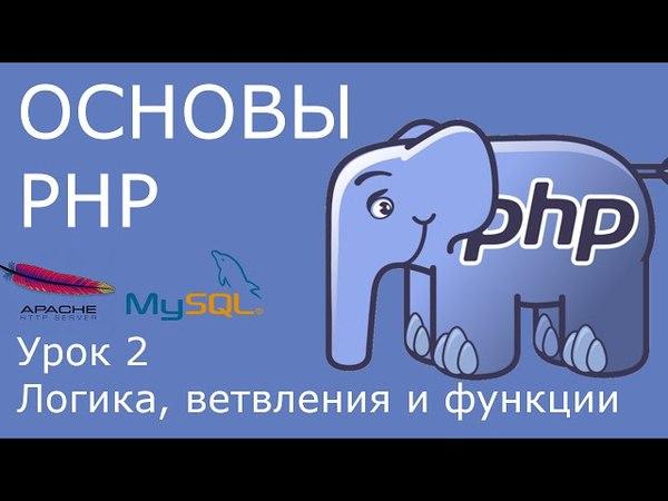 Основы PHP - урок 2. Операции сравнения, логические операции, ветвления.