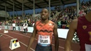 NOAH LYLES RUNS 19.69 AND BEATS MICHAEL NORMAN IN Lausanne Diamond League 2018