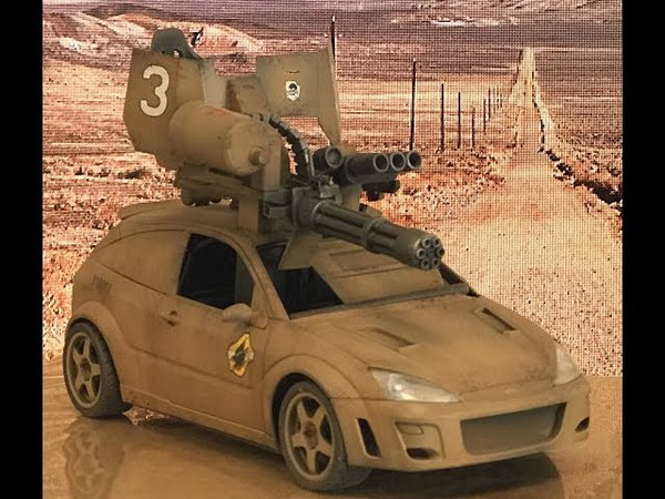 Scratch Building the Tamiya focus rally car as a MadMax style fully armed armored car
