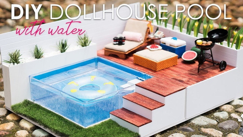 DIY Dollhouse Swimming Pool Set Tutorial For Nendoroid LPS Dolls
