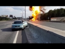 Грузовик, перевозивший 119 газовый баллон, взорвался на МКАДе. (2013г)