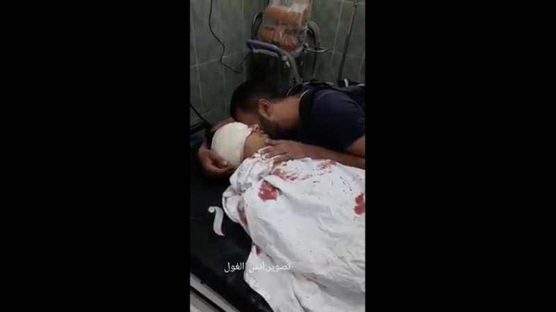 The farewell of martyr - Abu Clinic 17-Year-old who ascended to his lord east of rafah, by monitoring the Zionist enemy sniper.