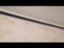 Натяжные потолки. Процесс установки багет, люстра, обвод трубы