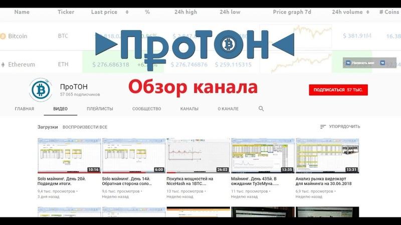 Обзор канала ПроТОН | YouTube Miners 2