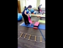 Полина ( 2года ) Раннее начало коррекционной работы с особенными детьми с синдромом Дауна ,творит чудеса. Занятие по ЛФК