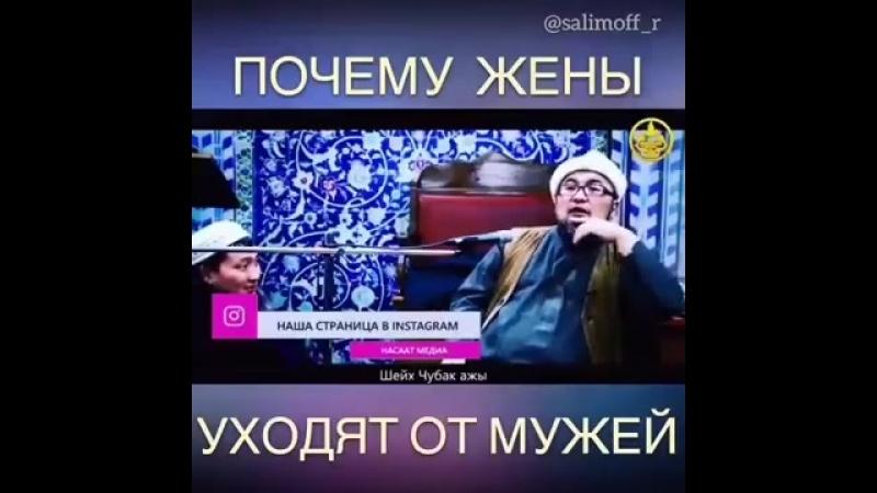 Почему жены уходят от мужа. Шейх Чубак ажы Жалилов. ( 360 X 360 ).mp4