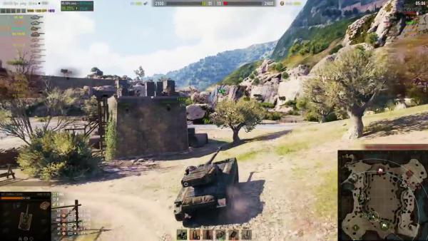 World of Tanks АМХ 13 105 - Позиция для ЛТ Карта Провинция