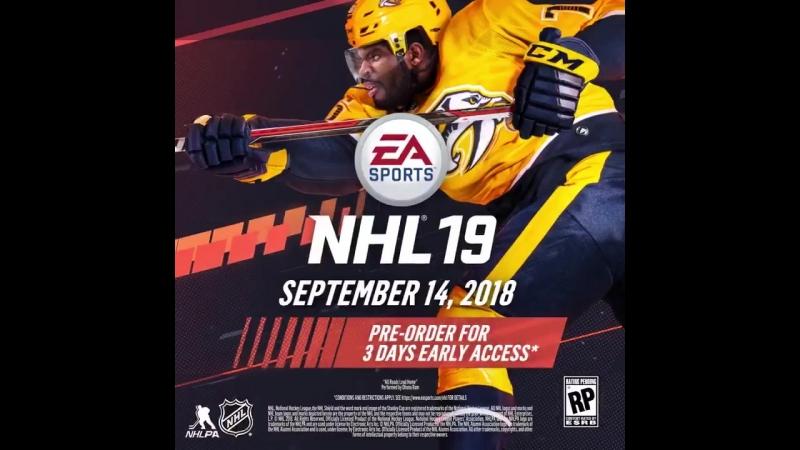 Канадский защитник «Нэшвилл Предаторз» Пи Кей Суббэн стал лицом хоккейного симулятора NHL 19.