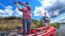 Щука в августе - рыбалка с лодки с сыном. Ловили щуку на воблеры, джерк, джиг, тролинг и лягушки