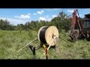 Разматываем катушку с кабелем с помощью самодельного кабельного домкрата