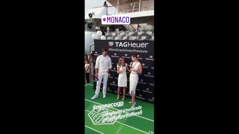 BHBR Bella Hadid e Tom Brady no evento da Tag Heuer em Monaco 26 de Maio de 2018