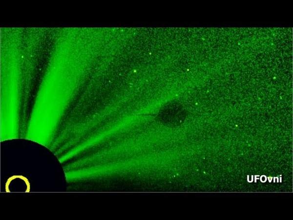 GIANT UFO STAR WARS INVISIBLE Around The Sun, SOHO NASA, Sept 5, 2013
