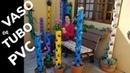 VASO DE TUBO PVC COMO FAZER VASO PARA PLANTAS FEITO DE CANO PVC PVC POT FOR A VERTICAL GARDEN 3