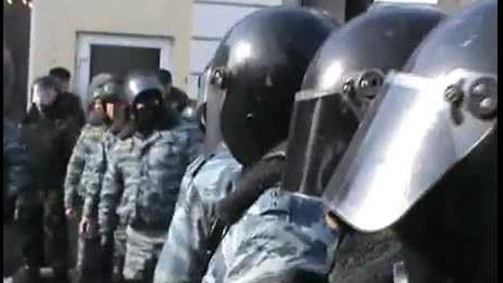 ОМОН разогнал мирное шествие в Нижнем Новгороде
