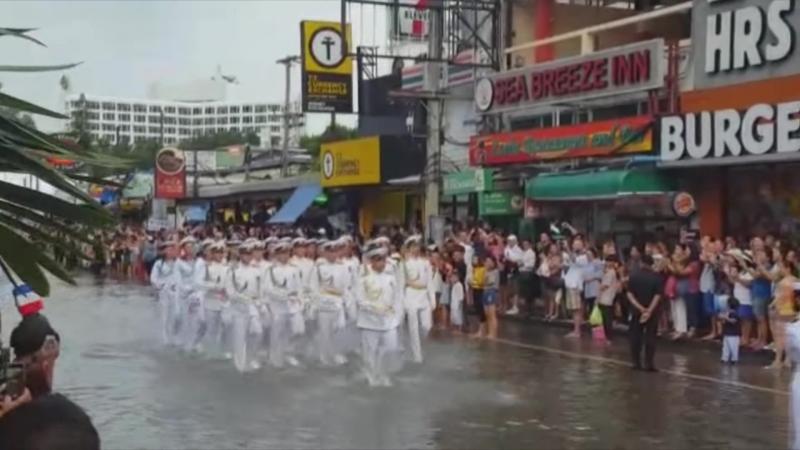 Официальный визит кораблей в Корею Парад