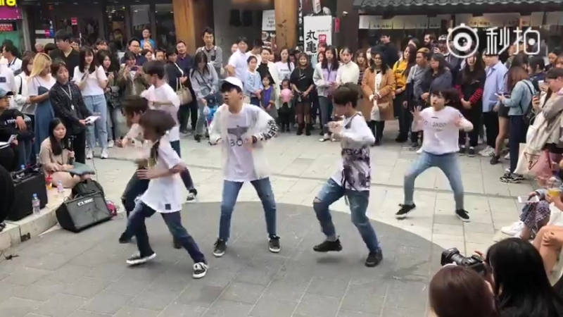 BOYSTORY Hongdae Busking - MIC DROP - BTS 2nd time (20180520)