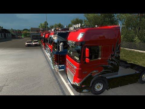 СТРИМ по Euro Truck Simulator 2 Мультиплеер Дальняя дорога(Первомай) ч.22 На канале Laprock