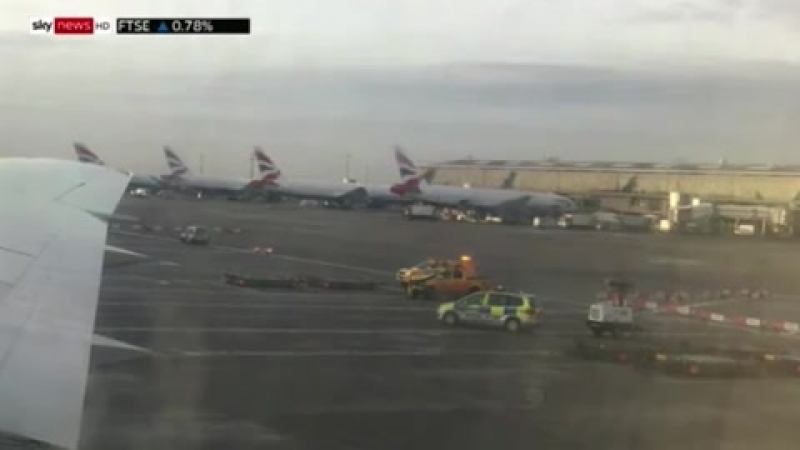 Heathrow Airport crash: One dead and plane evacuated after horrifying collision on tarmac