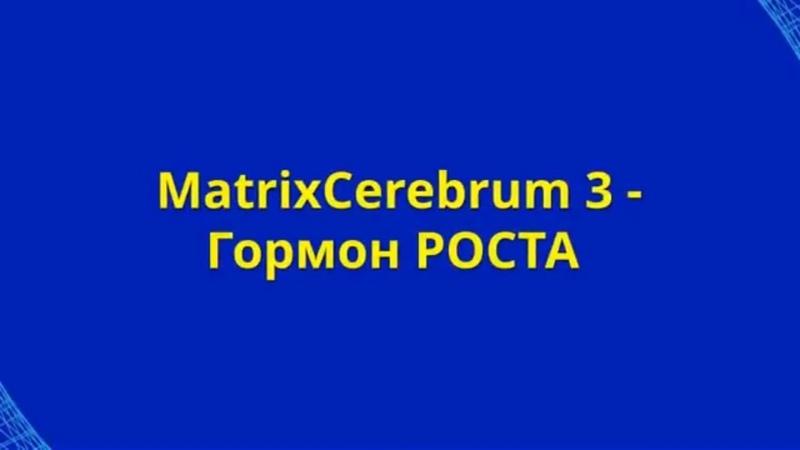 ГОРМОН РОСТА MatrixCerebrum3 гормонРоста ЧЕЛОВЕКА human growth hormone